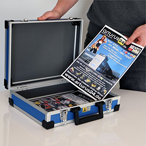 Allit Aluminium Koffer Basic L35 Blau Typ 424120
