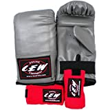 LEW Punching Glove and Hand Wrap Combo
