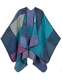 DoFiyeng Damen Poncho Cape Poncho Umhang Pashmina Modeschal Umschlagtuch Strickjacke Vorne Offen Schal Wrap(vielen Farben)