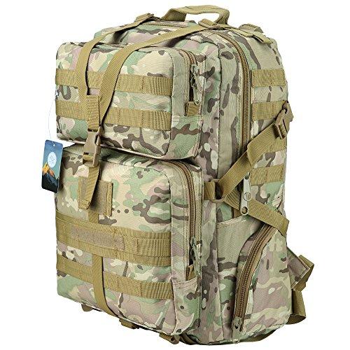 HUKOER Mochila Táctica Militar Impermeable -45L para Excursionismo Montañismo Senderismo y viaje al aire libre Macuto Militar y deportiva de alta calidad (CP-45L)