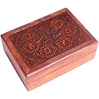 Scatola per tarocchi in legno sheesham intarsiato