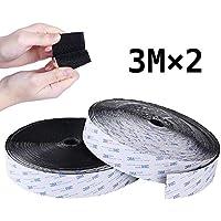 Cinta adhesiva de gancho y bucle, cinta adhesiva de 3 m, cinta adhesiva de doble cara, 20 mm de ancho