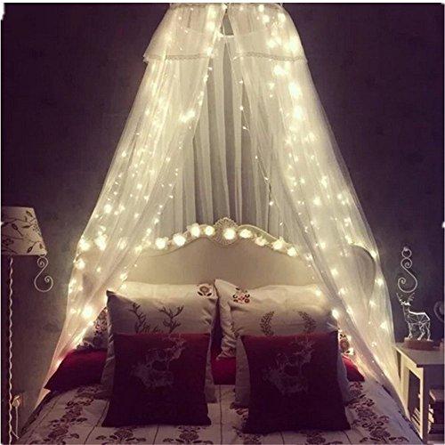 TOFU Lichtervorhang Sterne, Led Lichterkette fenster mit EU-Stecker, warmweiße Weihnachtsdeko für Vorhang, Weihnachten, Halloween, Hochzeit, Clubs, Kinderzimmer, zu Hause, Deko Party Innen/Außen - 3