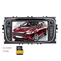 Eincar for Ford Mondeo(2007-2011)/Ford S-max(2008-2012)/Ford Focus(2008-2010)/Ford Galaxy(2010-2012) Car DVD Player Stereo 7 inch Wince Sat Nav GPS Navigation Multimedia System Support SD/USB/Bluetooth/Steering Wheel Control/RCA Input CANBUS Radio Stereo