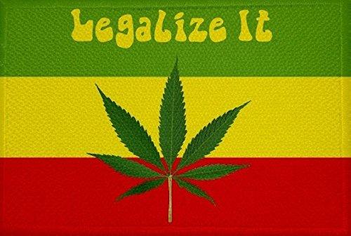 U24toppa canapa Cannabis motivo n. 2Bandiera Aufbügler 9x 6cm