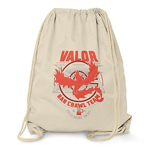 NERDO - Bar Crawl Team Valor - Turnbeutel, natur