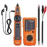 INTEY Kabeltester Wire Tracker BNC RJ45 RJ11 Netzwerk für Telefonkabel und LAN-Kabel, Leitungsdetektor Emitter Kabelfinder