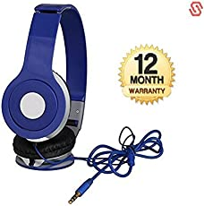 Supreno Stereo MegaBass Headphone With Deep Bass And Music Equalizer Compatible with Xiaomi, Lenovo, Apple, Samsung, Sony, Oppo, Gionee, Vivo Smartphones (1 Year Warranty)