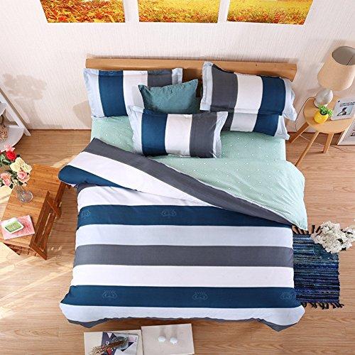 DACHUI Bettwäsche Sammlungen 4 pcs 2 Kopfkissenbezug Bettwäsche Bettbezüge Einzelzimmer Doppelzimmer King super-U König (Seide Aloe-pflanze)