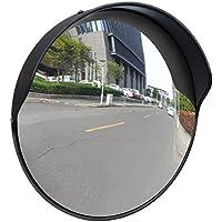 vidaXL Espejo convexo exteriores para el tráfico marco negro de plástico 30 cm