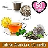 50 Capsule Tisana Infuso Arancia e Cannella Compatibili Nespresso