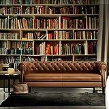 Benutzerdefinierte Fotobuch Tapete 3D Arbeitszimmer Bibliothek Wandbild Hintergrund Wandbild Bücherschrank Bücher Bücherregal Wandbild Tapete_280 X 200CM