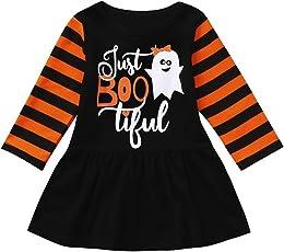 0207d744f Tefamore 1-4 años Niña Disfraz Halloween Niña Vestidos de Manga Larga -