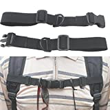 "Lightweight 1"" Nylon Webbing Sternum Strap Backpack Chest Harness Open Loop"