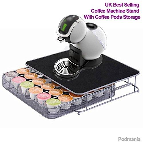 Jjonlinestore supporto nespresso dolce gusto con cassetto e spazio per 36 capsule di caffè