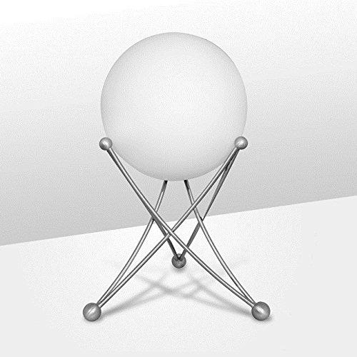 NEG Tischleuchte TavoPalloni (20,0cm Kugel-Durchmesser) Tischlampe aus Opalglas und Edelstahl (Opalglas-tischleuchte)