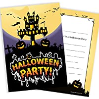 Halloween Party Invitations - Ready to Write with Envelopes (Pack 10)
