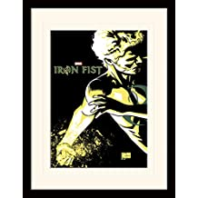 """Iron Fist """"Power"""" Mounted and Framed Print, Multi-Colour, 30 x 40 cm"""