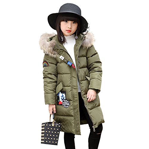 Kidslove Daunenjacke kinder Winterjacke mit Kaputze Daunenmantel mädchen Junge Baby Verdickte Winterjacke Lang Jacke