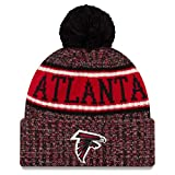 New Era Atlanta Falcons Beanie NFL 2018 Sideline Sport Reverse Knit Red/Black - One-Size