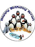 7.5 Pingu Penguin Edible Icing Birthday Cake Topper