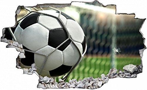 Fussball Tor Ball Stadion Wandtattoo Wandsticker Wandaufkleber C0412 Größe 70 cm x 110 cm (Wand, Fußball-tor)