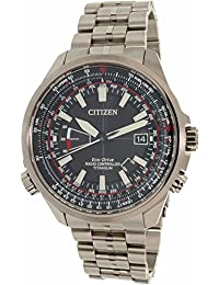 Citizen Reloj de hombre cuarzo 49mm correa de titanio caja de acero CB0141-55E