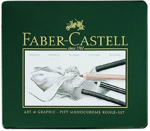 Faber-Castell 112967 - PITT Kohle Set, 22er Metalletui