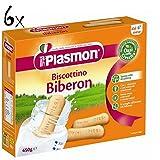 6x PLASMON biberon Kinderkekse für Babyflasche kuchen cookies ab 4 Monaten 450gr