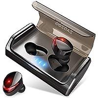 Zagzog Auriculares Bluetooth Inalámbricos, Bluetooth V5.0 Caja de Carga 3000mAh 90 Horas Autonomía