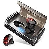 Zagzog Bluetooth Kopfhörer Bluetooth Ohrhörer Sport Kopfhörer Earbuds In Ear mit Bluetooth 5.0 IPX7 Wasserdicht 3000mAH Ladekasten CVC8.0 Geräuschunterdrückung für IOS Android Schwarz