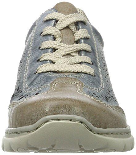 Rieker L3206, Sneakers Basses Femme Bleu (Steel/azur / 43)