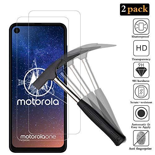 ANEWSIR Schutzfolie Panzerglas für Motorola One Vision, Motorola One Action Schutzfolie 9H Hartglas, Panzerglasfolie Bildschirmschutzfolie Folie für Motorola Moto One Vision/One Action [2 Stück]