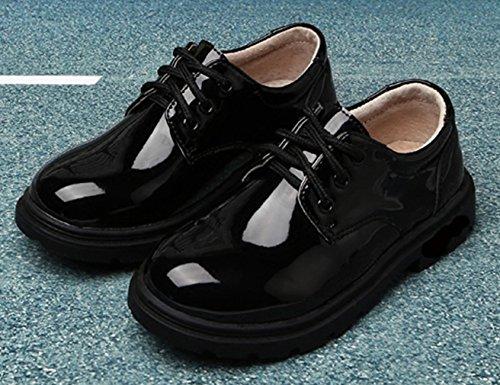 YBOA Chaussures Enfant Garçon Chaussures Vernis Gentleman Similicuir vBF4r6v