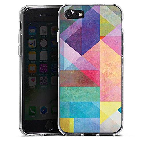 Apple iPhone X Silikon Hülle Case Schutzhülle Grafisch Muster Design Silikon Case transparent