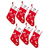 by Robelli Pack of 6 Santa Paws Stockings for Pet Dogs