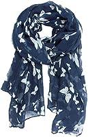 VORCOOL Voile Foulard Longue Châle Papillon Echarpe (Bleu Marine)