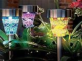 Edelstahl Solar-Leuchten Mosaik marokkanischen dem Spiel Garten Grenze Laternen Schönes Nachtlicht Deko Garten Terrasse Lampe Sun Powered ECO