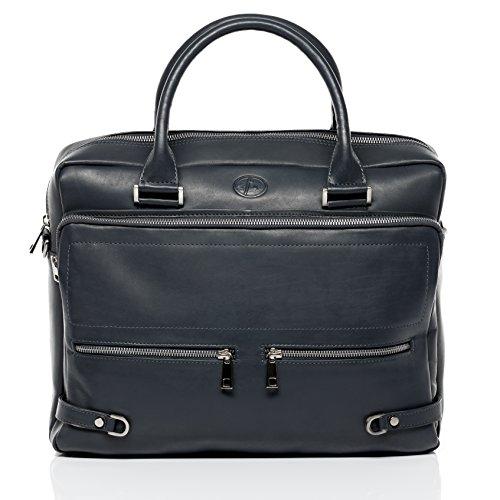 FERGÉ Laptoptasche BETH - Unisex Notebooktasche groß Ledertasche fit 15.4 Zoll Laptop mit gepolstertem Gerätefach - Businesstasche Damen Herren echt Leder...