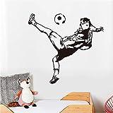 PAWANG KunstVinyl Haus Dekoration billig Fußball Wandbilder Kreative Schule Wandaufkleber Dekor An Der Wand 63 * 58 cm