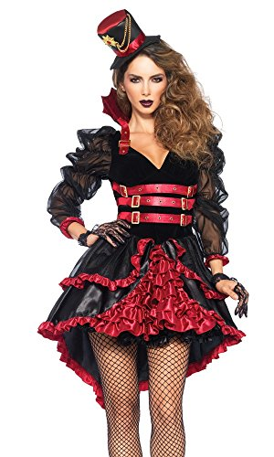 shoperama Damen-Kostüm Leg Avenue - Victorian Vamp - Vampir Halloween Dracula sexy, Größe:S