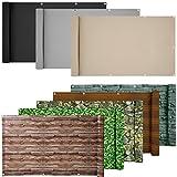 ESTEXO® PVC-Balkonsichtschutz, Balkonbespannung, Balkonverkleidung, 6 Meter (0,9 x 6,0 Meter, Hellgrau)