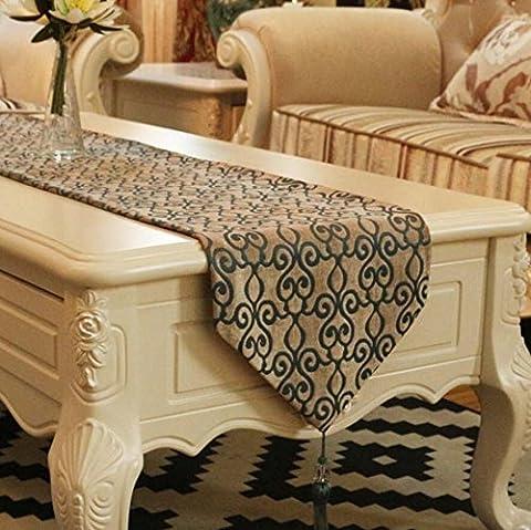 LD&P Die neue europäische Rauten Jacquard-Tischläufer Tischdecke Tisch Bett Flagge Thanksgiving, Weihnachten, Dekorationen (Schuhkarton-geschenke Für Weihnachten)