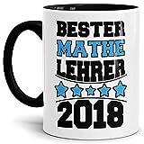 Tasse Mathe-Lehrer/Schule/Abi/Abschied/Lehrer-Geschenk/Geschenk-Idee/mit Spruch/Innen & Henkel Schwarz