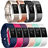 Tobfit Fitbit Charge 2 Bracelet Sangle Réglables Sport Accessorie Replacement Band pour Fitbit...