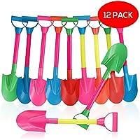 Bramble Juego de Playa con 12 Palas de Plástico en Colores Surtidos - Perfecta para Niño Playa y Arenero