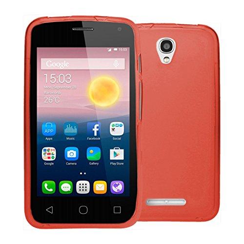 TBOC® Rot Gel TPU Hülle für Alcatel One Touch Pixi First - Pixi 1st (4.0 Zoll) Ultradünn Flexibel Silikonhülle