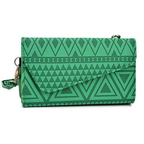 Kroo Pochette/étui style tribal urbain pour Xolo Q1010i/Q1200 Multicolore - Noir/blanc Multicolore - vert