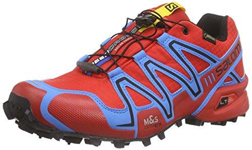 Salomon Herren Speedcross 3 Gtx Traillaufschuhe Podridão (radiante Vermelho / Azul Do Processo / Preto)