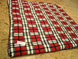 KosiPet® Luxury FLEECE Pet Dog Cat Bed Mat With Fibre Pad (MEDIUM, RED PLAID)